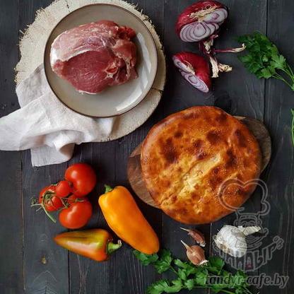 Пирог с говядиной на дрожжевом тесте