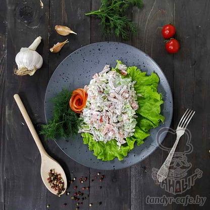 Грузинский салат с языком