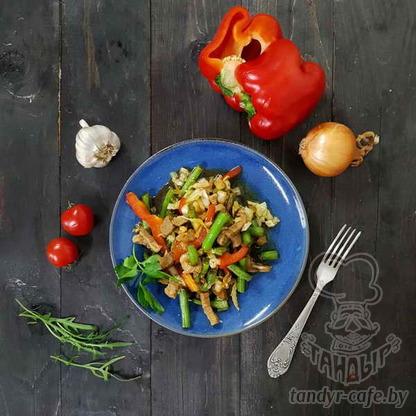 Теплый салат Три джигита